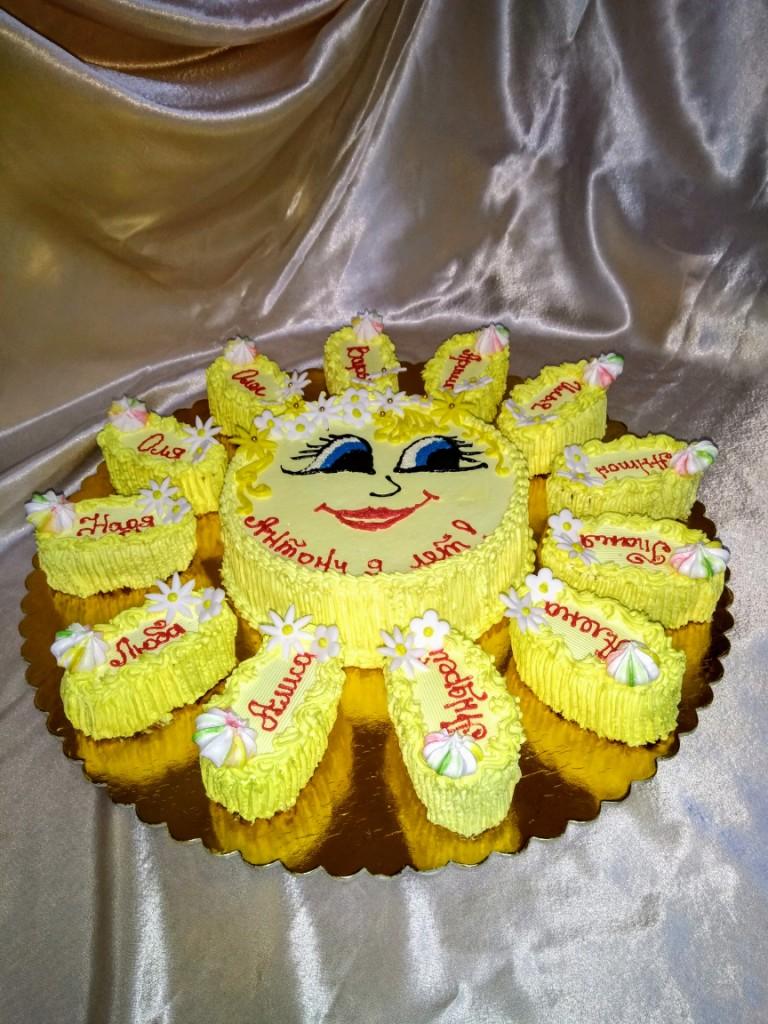 торт солнышко фото из крема воронка